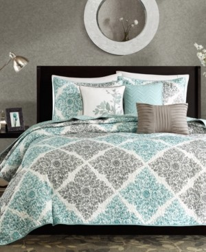 Madison Home USA Claire 6-Pc. Quilted Full/Queen Coverlet Set Bedding