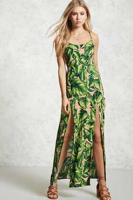 LOVE21 LOVE 21 Foliage Print Maxi Dress