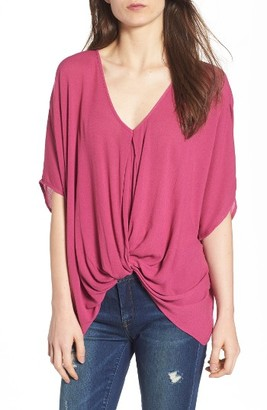 Women's Leith Drape Front Top $49 thestylecure.com