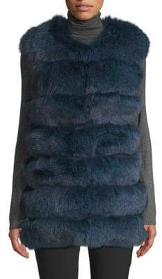 La Fiorentina Dyed Fox Fur Bubble Vest
