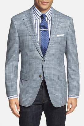 Hickey Freeman Beacon Blue Plaid Two Button Notch Lapel Wool Suit Separates Blazer $1,095 thestylecure.com