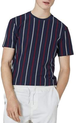 Topman Slim Fit Vertical Striped T-Shirt