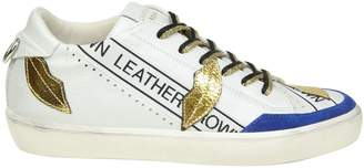 Leather Crown Sneakers w Kisslow In White Leather