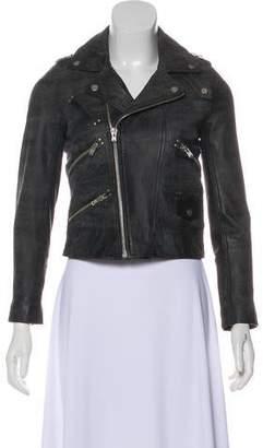 The Kooples Distressed Leather Jacket
