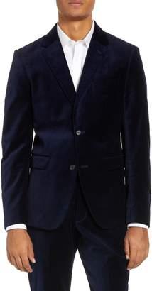 French Connection Regular Fit Plush Velveteen Blazer