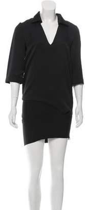 Jay Ahr Asymmetrical Mini Dress