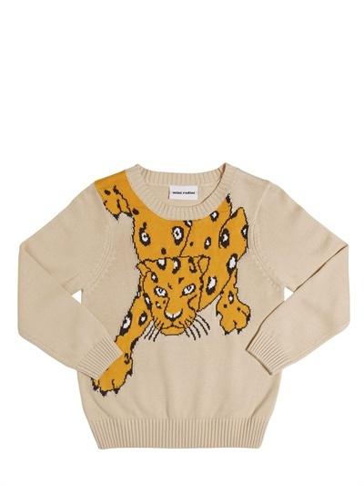 Intarsia Round Neck Pullover