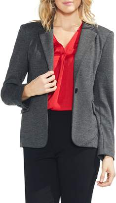 Vince Camuto Herringbone One-Button Blazer