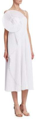 Rosie Assoulin Escargot Pleated Slip Dress