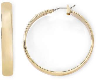Jcpenney Monet Jewelry Gold Tone Medium Hoop Earrings