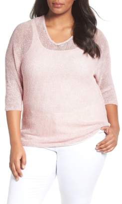 Nic+Zoe Sunkissed Sheer Linen Blend Pullover
