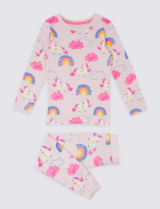 Marks and Spencer Dreamskin Cotton with Stretch Unicorn Pyjamas (1-7 Years)