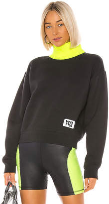 Alexander Wang Dense Fleece Neck Trim Turtleneck
