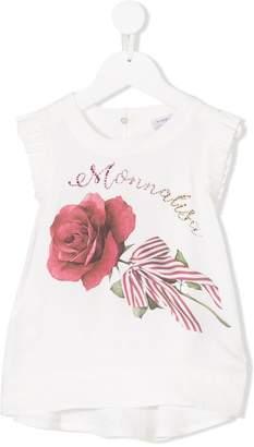 MonnaLisa rose print top