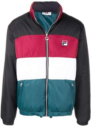 Fila striped padded jacket