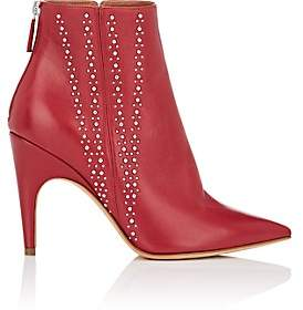 Derek Lam Women's Isla Studded Leather Ankle Boots - Red