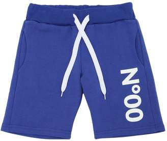 Numero 00 Logo Printed Cotton Sweat Shorts