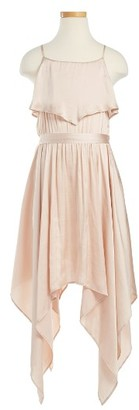 Girl's Bardot Junior Handkerchief Hem Dress $79.95 thestylecure.com