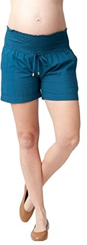 Ripe Maternity Women's Maternity Philly Cotton Shorts with Drawstring