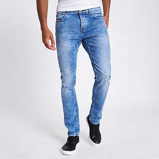 River Island Only and Sons blue distressed anti fit jeans