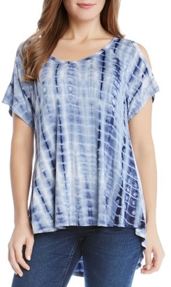 Women's Karen Kane Cold Shoulder Tie-Dye Tee $79 thestylecure.com