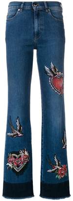 RED Valentino embroidered bootcut jeans