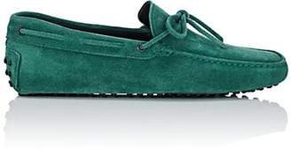 Tod's MEN'S SUEDE TIE DRIVERS - MD. GREEN SIZE 7.5 M