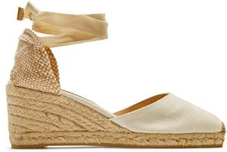 487f72223f8 Castaner Carina 60 Canvas   Jute Espadrille Wedges - Womens - Cream