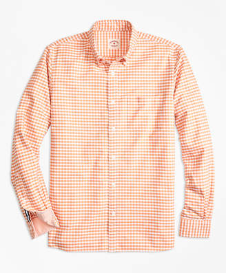 Brooks Brothers Gingham Cotton Oxford Sport Shirt