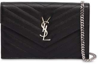 Saint Laurent Medium Quilted Monogram Leather Bag