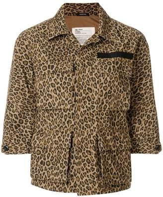R 13 leopard print shirt jacket