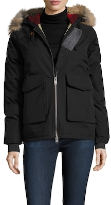 Solid Hooded Parka $395 thestylecure.com