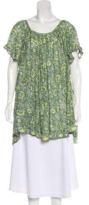 Natalie Martin Printed Silk Blouse