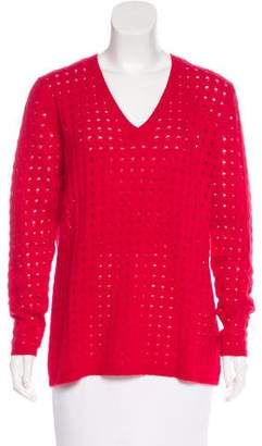 Allude Cashmere Open-Knit Sweater w/ Tags