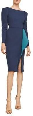 BCBGMAXAZRIA Ruffle Drape Sheath Dress