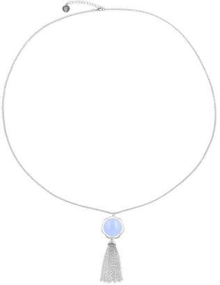 Liz Claiborne Womens Purple Flower Pendant Necklace