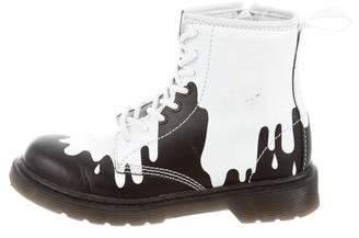 Dr. Martens Kids Kids Girls' Splatter Combat Boots