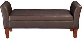 HomePop Curved Arm Storage Bench