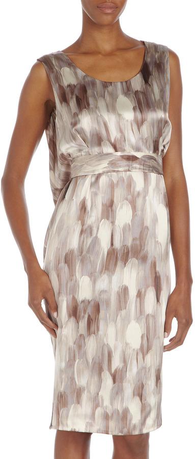 Ports 1961 Cowl-Back Silk Dress