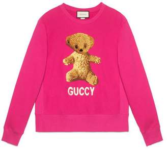 Gucci Cotton sweatshirt with teddy bear