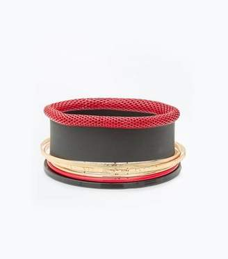 New Look Red Coated Bangle Pack