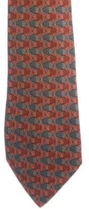 Hermes Fish Print Silk Tie