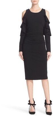 Women's Tracy Reese Flounced T Cold Shoulder Dress $298 thestylecure.com
