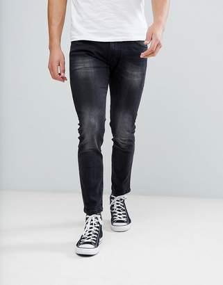 Wrangler Skinny Jeans In Black Washed
