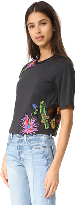 3.1 Phillip Lim Floral Embroidered Tee $295 thestylecure.com