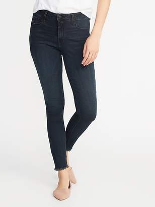 Old Navy Mid-Rise Rockstar Super Skinny Raw-Edge Ankle Jeans for Women