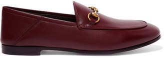 Gucci Brixton Horsebit-detailed Leather Collapsible-heel Loafers - Burgundy
