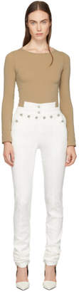 Kreist White High-Rise Sailor Fitted Jeans