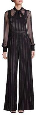 Nanette Lepore Pinstripe Wide-Leg Jumpsuit $498 thestylecure.com