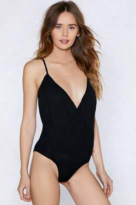Nasty Gal My Feet Deep Dancing Plunging Bodysuit
